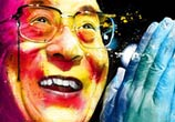 Portrait of Dalai Lama, mixed media by Patrice Murciano
