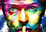 David Bowie, mixed media by Patrice Murciano