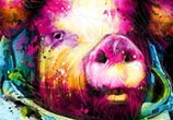 First Pig In Space mixedmedia by Patrice Murciano