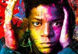 Jean Michel Basquiat, mixed media by Patrice Murciano