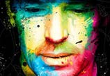 Lambert Wilson, mixed media by Patrice Murciano