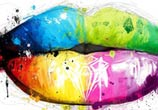 Lips mixedmedia by Patrice Murciano