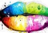 Lips mixedmedia by Patrice Murciano