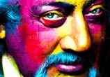 Color portrait, mixed media by Patrice Murciano