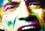 Mick Jagger, mixed media by Patrice Murciano