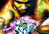 Mike Tyson mixedmedia by Patrice Murciano