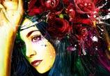 Olivia Ruiz mixedmedia by Patrice Murciano