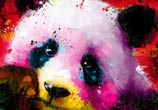 Panda Pop, mixed media by Patrice Murciano