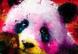 Panda Pop, mixed media by Patrice Murciano