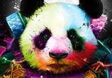Panda Pop Samourai mixedmedia by Patrice Murciano