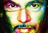 Man portrait, mixed media by Patrice Murciano