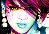 Rihanna, mixed media by Patrice Murciano
