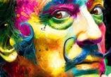 Salvador Dali, mixed media by Patrice Murciano