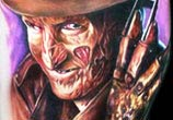 Freddy Krueger portrait tattoo by Paul Acker