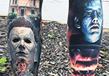 Horror tattoo by Paul Acker