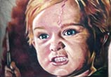 Portrait tattoo Gage Creed from Pet Sematary by Paul Acker