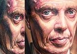 Nucky Thompson portrait tattoo by Paul Acker