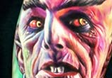 Horror vampire tattoo by Paul Acker