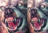 Werewolf tattoo by Paul Acker