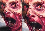 Zombie tattoo by artist Paul Acker