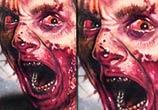Zombie tattoo by artist Paul Acker