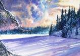 The December shadows acryl painting by Peter Zuffa Bodliak