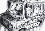 Ice Dream car sketch drawing by Pez