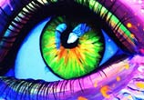 Blacklight eye  by Pixie Cold