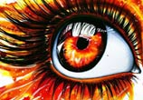 On fire Eye painting by Pixie Cold