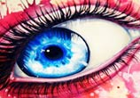 Pink and Blue eye color drawing by Pixie Cold