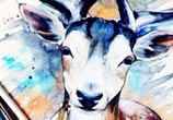 Pixie Deer watercolor painting by Pixie Cold