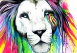 Rainbow lion  by Pixie Cold