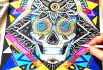 Skull illustratiom by Pixie Cold