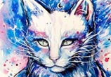 Spacecat painting by Pixie Cold