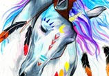 Spirit Horse watercolor painting by Pixie Cold