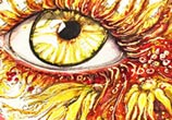 Sun Kiss Eye painting by Pixie Cold