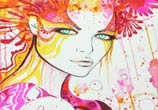 Sweet Flower watercolor painting by Pixie Cold