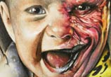 Baby Harvey Dent color drawing by Sergey Shanko