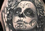Black muerte 1 tattoo by Sergey Shanko