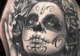 Black muerte 1 tattoo by Sergey Shanko