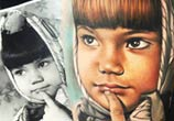 Child portrait tattoo by Sergey Shanko
