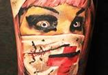 Horror Nurse tattoo by Sergey Shanko