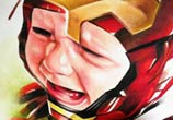 Iron Baby color drawing by Sergey Shanko