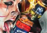 Jack Daniels color drawing by Sergey Shanko