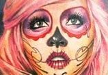 Pink Muerte tattoo by Sergey Shanko