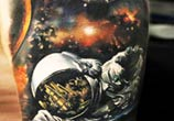 Space tattoo by Sergey Shanko