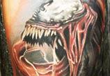 Venom spiderman tattoo by Sergey Shanko