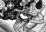 Cosmic Skull2 marker drawing by Sneaky Studios