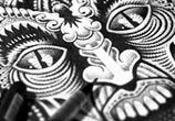 Demon pen drawing by Sneaky Studios
