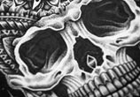 Detail Skull marker drawing by Sneaky Studios